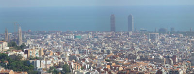 Barcelona desde el Tibidabo
