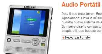 Página web de samsung.com