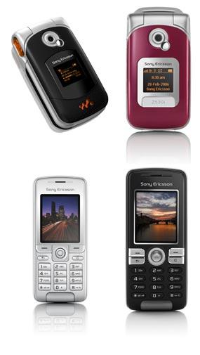 Los Sony Ericsson W300, Z530, K310 y K510