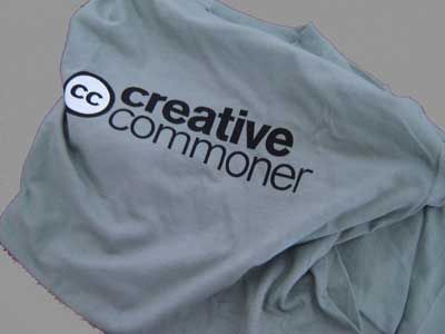 La camiseta de Creative Commons