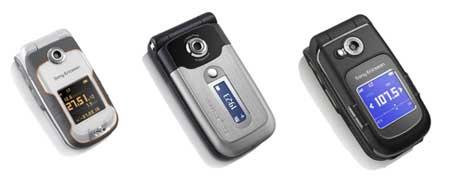 Los Sony Ericsson W710, Z550 y Z710