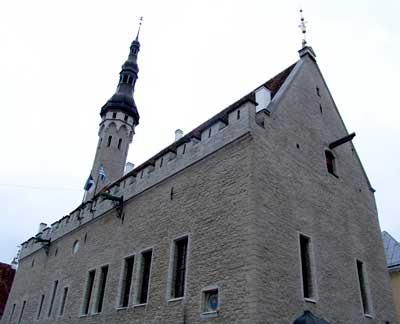 El viejo ayuntamiento de Tallinn