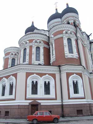 Una iglesia ortodoxa en Tallinn