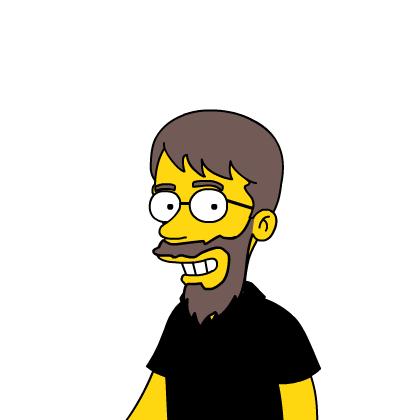 Yo en versión Simpson