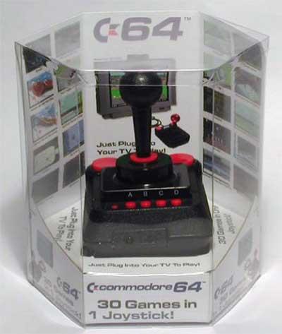 Hoy en día un C64 cabe dentro de un joystick