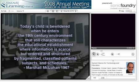 Captura de pantalla de una presentación del profesor Michael Wesch