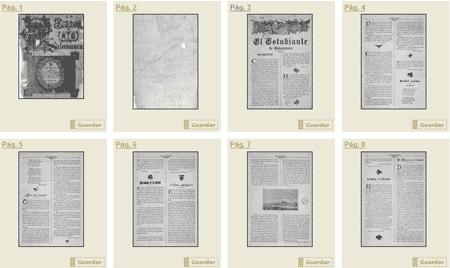 Las primeras páginas de la publicación El Estudiante de Salamanca