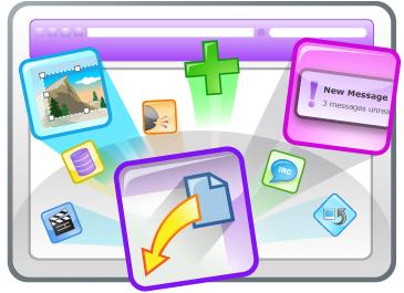 Ilustraci�?³n que usa Yahoo! para BrowserPlus