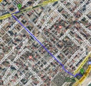 El camino más corto entre dos puntos no siempre es la línea recta, según Google Maps