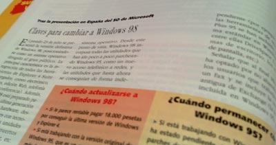 La revista se plantea cuándo pasarse a Windows 98 desde el 95