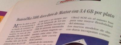 Maxtor anunciaba un disco de 3.4 gigas por plato