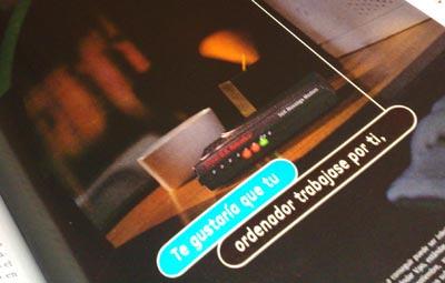 Publicidad del módem Sportster Message Plus 56K de 3Com US Robotics