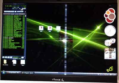 En medio de la pantalla hay una columna de píxels de un par de dedos de ancho con 'efecto psicodélico'