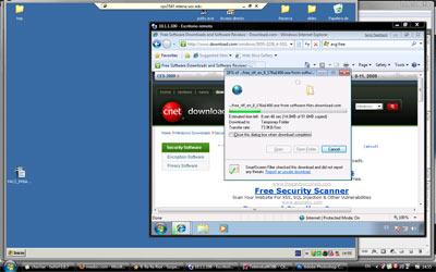 Windows 7 y Windows XP Pro corriendo en escritorios remotos sobre Windows Vista
