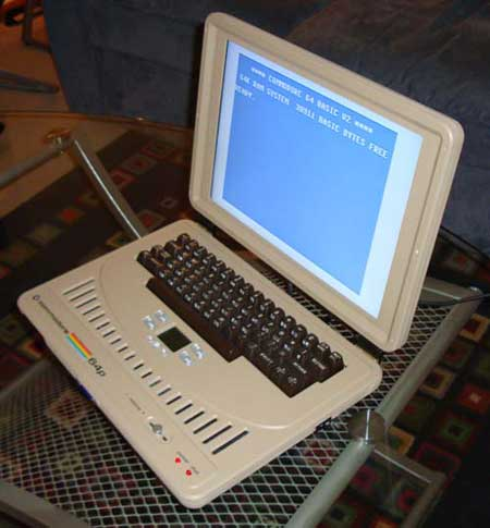 Un 'mod' de un Commodore 64 como portátil