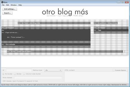Captura de pantalla de la herramienta Boks, descrita en el texto de la entrada