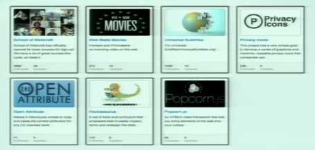 Diapositiva presentando algunos de los proyectos de Mozilla comentados en el texto