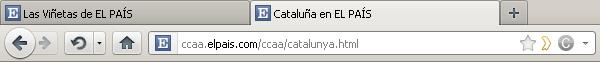 Captura de pantalla de una URL de El País, del estilo ccaa.elpais.com/ccaa/catalunya.html